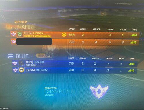 Champion 2 --> Champion 3
