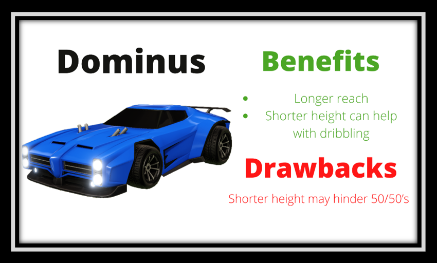 rocket league dominus benefits