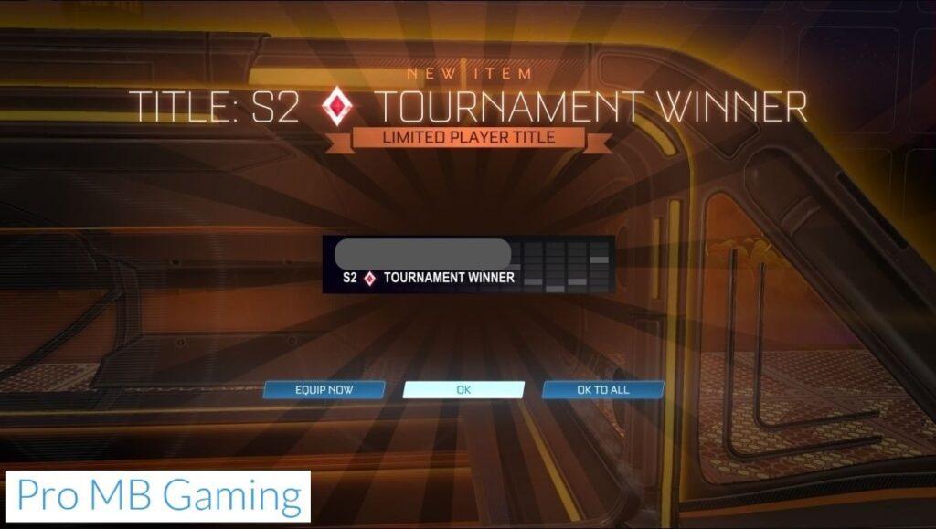 How to Win a Rocket League tournament